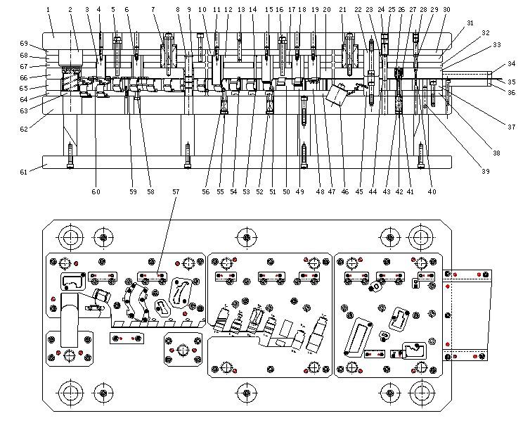 金龙海格客车灯光电路图