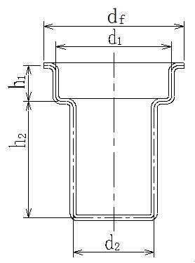 带凸缘复合拉伸模具结构图